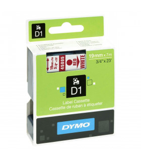 Dymo D1 S0720850 45805 19mm x 7m, Red on White | ⓿❽❻❽❺⓿❺⓿❺❺ | Nhãn in, tem in, giấy in, băng nhãn, tape in | khuetu.vn