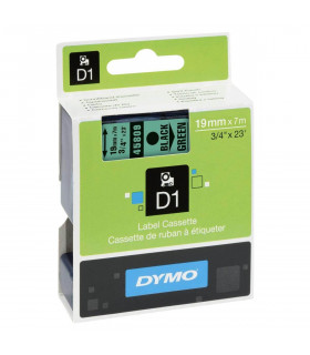 Dymo D1 S0720890 45809 19mm x 7m, Black on Green | ⓿❽❻❽❺⓿❺⓿❺❺ | Nhãn in, tem in, giấy in, băng nhãn, tape in | khuetu.vn
