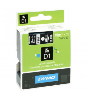 Dymo D1 S0720910 45811 19mm x 7m, White on Black | ⓿❽❻❽❺⓿❺⓿❺❺ | Nhãn in, tem in, giấy in, băng nhãn, tape in | khuetu.vn