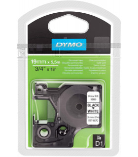 Dymo D1 S0718070 16960 Permanent Polyester 19mm x 5.5m, Black on White | ⓿❽❻❽❺⓿❺⓿❺❺ | Nhãn in, tem in, giấy in, băng nhãn, ta...