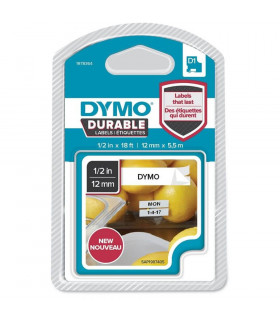 Dymo D1 1978364 Durable 12mm x 5m, Black on White | ⓿❽❻❽❺⓿❺⓿❺❺ | Nhãn in, tem in, giấy in, băng nhãn, tape in | khuetu.vn