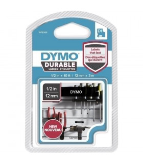 Dymo D1 1978365 Durable 12mm x 3m, White on Black | ⓿❽❻❽❺⓿❺⓿❺❺ | Nhãn in, tem in, giấy in, băng nhãn, tape in | khuetu.vn