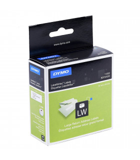 Dymo S0722520 (11352), Return Address Labels 54mm x 25mm x 500 labels - Black on White | ⓿❽❻❽❺⓿❺⓿❺❺ | Nhãn in, tem in, giấy i...
