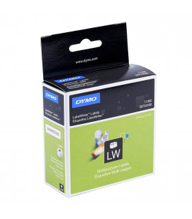 Dymo S0722550 (11355), Multi-Purpose Labels 19mm x 51mm x 500 labels - Black on White | ⓿❽❻❽❺⓿❺⓿❺❺ | Nhãn in, tem in, giấy in...