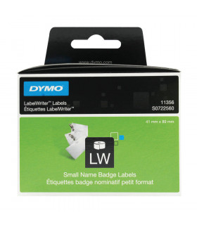Dymo S0722560 (11356), Removable Small Name Badge Labels 89mm x 41mm x 300 labels - Black on White | ⓿❽❻❽❺⓿❺⓿❺❺ | Nhãn in, te...