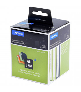 Dymo S0722480 (99019), LabelWriter Large Lever Arch File Labels 190mm x 59mm x 110 labels - Black on White | ⓿❽❻❽❺⓿❺⓿❺❺ | Nhã...