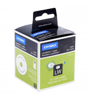 Dymo S0719250 (14681), LabelWriter CD / DVD Labels 57mm x 169 labels - Black on White | ⓿❽❻❽❺⓿❺⓿❺❺ | Nhãn in, tem in, giấy in...