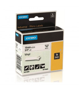 Dymo S0718620 (18445), Vinyl Label Tape, 19mm x 5.5m, Black on White | ⓿❽❻❽❺⓿❺⓿❺❺ | Nhãn in, tem in, giấy in, băng nhãn, tape...