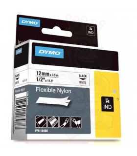 Dymo S0718100 (18488), Flexible Nylon Tape, 12mm x 3.5m, Black on White | ⓿❽❻❽❺⓿❺⓿❺❺ | Nhãn in, tem in, giấy in, băng nhãn, t...