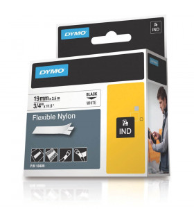 Dymo S0718120 (18489), Flexible Nylon Tape, 19mm x 3.5m, Black on White | ⓿❽❻❽❺⓿❺⓿❺❺ | Nhãn in, tem in, giấy in, băng nhãn, t...