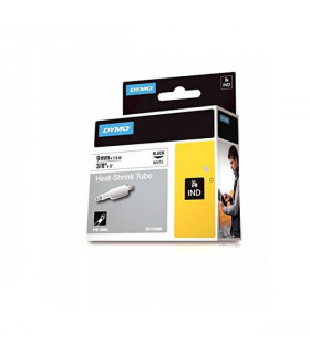 Dymo S0718280 (18053) Rhino Heat-Shrink Cable Label Tube 9 mm x 1.5 m Cassette - Black on White | ⓿❽❻❽❺⓿❺⓿❺❺ | Ống co nhiệt, ...