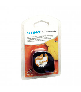 Dymo S0718850 (18769) LetraTag Fusible Tape 12mm x 2m - Iron on White | ⓿❽❻❽❺⓿❺⓿❺❺ | Nhãn in, tem in, giấy in, băng nhãn, tap...