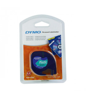 Dymo LetraTag S0721640 (91204) Plastic Label Tape 12mm x 4m - Black on Green | ⓿❽❻❽❺⓿❺⓿❺❺ | Nhãn in, tem in, giấy in, băng nh...