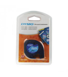 Dymo LetraTag S0721650 (91205) Plastic Label Tape 12mm x 4m - Black on Blue | ⓿❽❻❽❺⓿❺⓿❺❺ | Nhãn in, tem in, giấy in, băng nhã...