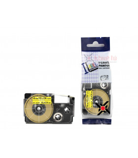 HR-18YW (Black on Yellow, 18mm) | ⓿❽❻❽❺⓿❺⓿❺❺ | Nhãn in, tem in, giấy in, băng nhãn, tape in | khuetu.vn